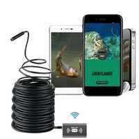 Wifi portátil de pesca de inspección HD noche cámara de visión 20 m de Cable de cámara bajo el agua buscador de peces apto para Android iOS teléfono