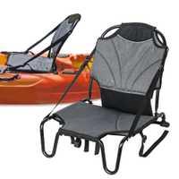 Canoa Kayak cojín de aluminio silla asiento sentarse en la parte superior del respaldo del asiento inflable barco ligero plegable silla con respaldo