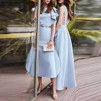 Vestido azul cielo elegante Vintage Sexy de fiesta de moda para mujer de Otoño de alta calidad de diseñador de pasarela de Milán