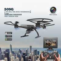 Jxd 509G 5.8g FPV set alto modo del asimiento RC quadcopter con 2.0mp HD Cámara 6 eje helicóptero drone monitores RTF RC juguete como regalo divertido