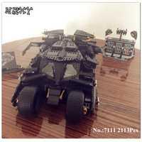 DHL en actualización STOCK DECOOL 7111, 2113 piezas de murciélago coche Batman el vehículo de combate de ladrillos gigante juguetes de bloques de construcción 78023