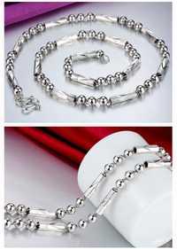 Alta calidad 4mm/5mm/6mm/8mm grueso 100% Real puro 925 Plata de ley collar hombres gruesa cadena larga hombres regalo plata Retro cadena