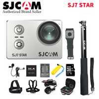 Original SJ7 estrella 30 M Cámara de Acción Wifi 4 K 30fps Ultra HD SJCAM Ambarella A12S75 casco resistente al agua Pro Gyro estabilización de ca
