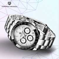 Diseño de PAGANI 2019 nuevos relojes para hombre reloj deportivo de cuarzo reloj de acero resistente al agua reloj de moda para hombre reloj cronógrafo de moda para hombre