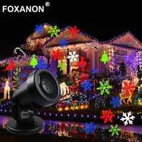 Proyector láser LED Bombilla de escenario impermeable nieve móvil copo de nieve proyector Navidad vacaciones Año nuevo jardín fiesta DJ DMX
