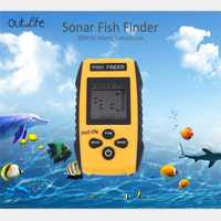 Señuelos de Pesca marca Outlife alarma 0,7-100 M 200 KHz Sonar portátil LCD señuelo de pesca cebo ecosound carpa pesca de