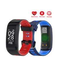 F4 corazón ritmo inteligente reloj de pulsera de Fitness pulsera de la presión arterial de oxígeno en la sangre Monitor IP68 impermeable deportes Smartwatch