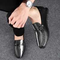 Luxe complet en cuir véritable hommes chaussures marque haute qualité appartements hommes mocassins doux léger à la main hommes paresseux chaussures décontractées