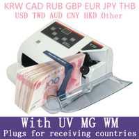Mini détecteur d'argent avec compteur de billets UV MG WM pour la plupart des billets de banque compteur de billets de banque EU-V10 équipement financier