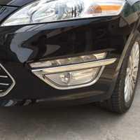 Livraison gratuite de haute qualité ABS Chrome feux de brouillard avant couvercle garniture anti-brouillard abat-jour garniture pour Ford Mondeo MK4