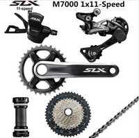SHIMANO DEORE seis M7000 grupo 34 T platos y bielas de bicicleta de montaña grupo 1x11-Speed 40 T 42 T 46 T M7000 trasera cambio de la palanca de cambio