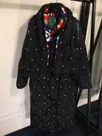2018 chaqueta de invierno las mujeres chaquetas de las mujeres abrigo cuentas ornamento de prendas de abrigo de marca famosa