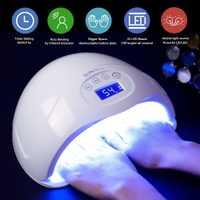CAPPUCCI SUN5 más 48 W secador de uñas UV lámpara Led de uñas curar todo tipo de Gel de barniz con fondo 30 s/60 s/99/s temporizador pantalla LCD