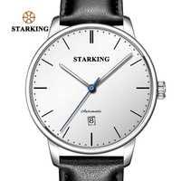 STARKING Marque De Luxe Pas Cher Montre Mécanique Automatique Date Automatique Auto-vent Homme Horloge 28800 Haute Battre Montre Relogio Sport TM0915