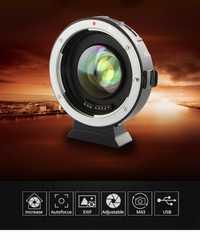 Viltrox EF-M2 enfoque automático AF Exif 0.71X reducir velocidad Adaptadores para objetivos turbo para Canon EF lente a M43 Cámara GH4 GH5 GF6 GF1