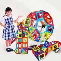 88 piezas niños bloques de construcción magnéticos juguetes educativos modelos de construcción de juguetes de plástico bloques magnéticos de juguete