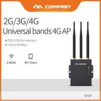 Comfast Router Wifi tarjeta SIM 4G impermeable Hotspot AP al aire libre CPE 2,4G LTE inalámbrico AP con señal fuerte las antenas ampliar CF-E7