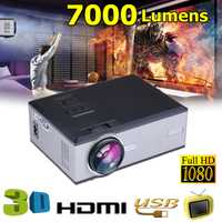 1080 p LED proyector de vídeo para el hogar Theater7000Lumensupport Full HD Mini proyector HD/USB/SD/AV/ VGA HOME CINEMA