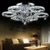 Creative led luces de techo moderno dormitorio minimalista lámpara cristal ighting LED de alambre de acero inoxidable Alambre de corte de lujo lámpara