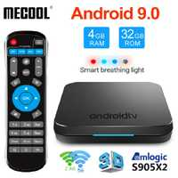 MECOOL KM9 DDR4 Android 9,0 Smart TV Box Amlogic S905X2 4 GB 32 GB USB3.0 4 K H.265 2,4G /5 GHz Dual Wifi BT4.1 KM9 Android 8,1