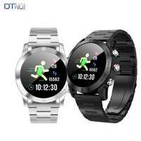DTNO me S10 reloj inteligente Bluetooth4.2 IP68 impermeable nórdicos NRF52832QFAA Monitor de ritmo cardíaco recordatorio sedentario Smartwatch