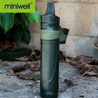 Equipo de camping de caza de senderismo y senderismo filtro de agua portátil de supervivencia de emergencia de preparación para desastres al aire libre