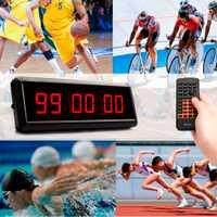 6 dígitos LED de reloj de pared cuenta regresiva IR remoto pantalla Junta gimnasio de entrenamiento de Fitness cuenta temporizador de Cuenta Regresiva para escapar de la escuela discurso