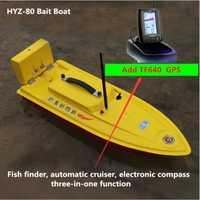 Pesca inteligente mar inmersión RC barco HYZ-80 control remoto pesca anzuelo agregar GPS buscador de peces crucero automático