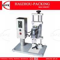 HZPK máquina de tapado eléctrico de escritorio semiautomática de doble Motor de aluminio tapa de tornillo para botella de plástico/vidrio