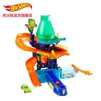 Caliente ruedas laboratorio de ciencias de la pista de plástico Miniaturas de Metal de coches de ferrocarril brinquedo Educativo Hotwheels juguetes para los niños CCP76