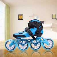 Fibra de carbono patines de velocidad en línea para los niños embroma fibra Racing Track competencia 3X90mm 3X100 MM 110mm 4X90mm 3 4 ruedas