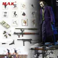 DIY escala 1:6 figura escena accesorios Joker payaso accesorio bolsa pistola cuchillo Granada póker modelo para 12