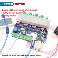 Nuevo 4 axis USB controlador CNC Junta USBCNC TB6560 controlador de motor paso a paso de 15 kHz