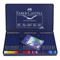 Faber-castell punto de la onda azul de la manera coloreado soluble Lápices con lujo caja de hierro azul Paquetes artista lápiz de color pluma