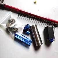 Caja de cambios Upgarded Kit LH Vector V2 engranaje de Metal Diente de acero escalera onda caja de piezas de modificación para Lehui Gelball Blaster
