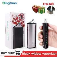Original Kingtons hierba seca vaporizador de hierbas e cigarrillo negro viuda vapor caja mod vape vaporizador cera kit 2200 mAh de cerámica calefacción