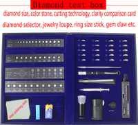 ¡Nuevo! Herramienta profesional del probador de diamantes en caja, con claridad, tamaño, Color, prueba de corte, juego de herramientas para hacer joyas