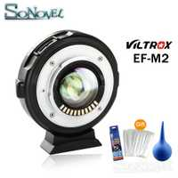 Viltrox EF-M2 enfoque automático AF EXIF 0.71X reducir Speed Booster lente adaptador Turbo para Canon EF lente a M43 cámara GH4 GH5 EM5 E-M10