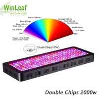 LED Grow Light Full Spectrum palnt grow lámpara doble Chips para plantas de interior invernadero semillas hidropónicas y floración