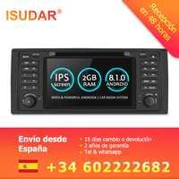 Isudar sistema Multimedia del coche Android 8,1 1 Din Automotivo DVD para BMW serie 5/X5 E53 E39 GPS Radio FM Quad Core 2 + 16 GB USB DVR