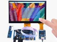 7 pulgadas 1024x600 pantalla de alta resolución + 7 pulgadas capacitiva panel táctil + HDMI/VGA/s -controlador de vídeo Junta DIY kits para frambuesa Pi