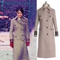 Otoño y el invierno nuevo medio-largo lana traje Zheng Shuang es doble Slim traje de lana abrigo mujer Chaquetas Mujer Chaquetas abrigos invierno de las mujeres