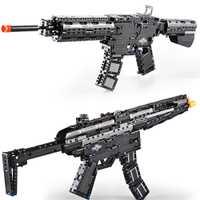 SWAT revólver emisión pistola M1A1 MP5 pistola Lot Building Block modelo Technic ladrillo establece arma niños juguete niño regalo
