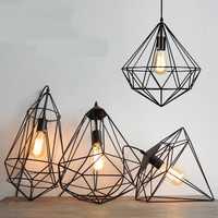 Nórdicos geométrica simple de hierro colgante luces país mesa de café loft creativo bar lámpara colgante lámparas GY196