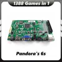 Caja de Juego 6 S 1388 en 1 MAME Jamma VGA Pandoras gabinete bricolaje máquina de la placa base a la consola de Arcade PCB junta de cartucho Kit