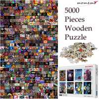 MOMEMO 5000 pièces en bois Puzzle jouets personnalisés