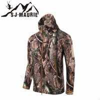 Camuflaje al aire libre Softshell impermeable a prueba de viento Tactical caza pesca Trekking Fleece hombres abrigo chaqueta militar del ejército