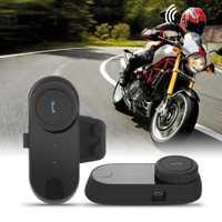 2 unids/lote FreedconnTCOM-02 Kit de comunicación de casco de motocicleta auricular Bluetooth intercomunicador inalámbrico motocicleta esquí BT Interphone
