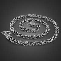Estilo vintage 925 Collar de plata tailandesa para hombre especial collar de espinas 6mm61cm tamaño masculino de plata sólida collar joyería de cuerpo