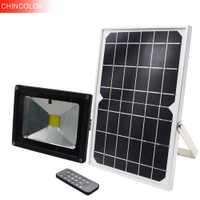 CHINCOLOR control remoto de sincronización LED lámpara Solar de pared al aire libre lámpara de inundación luz Solar de jardín a prueba de agua iluminación de jardín DA